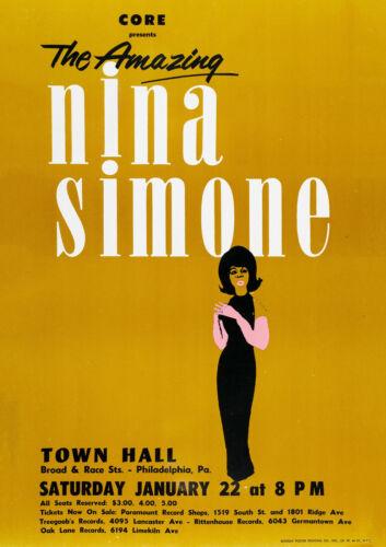 Nina Simone Philadelphia Town Hall 1963 Concert Poster Wall Art