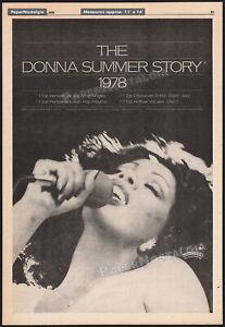 THE DONNA SUMMER STORY__Original 1978 Trade AD / Casablanca Records promo_poster