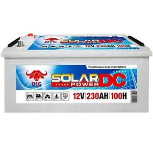 BIG Solarbatterie 12V 230Ah Versorger Batterie Beleuchtung Boot ers 220Ah 200Ah