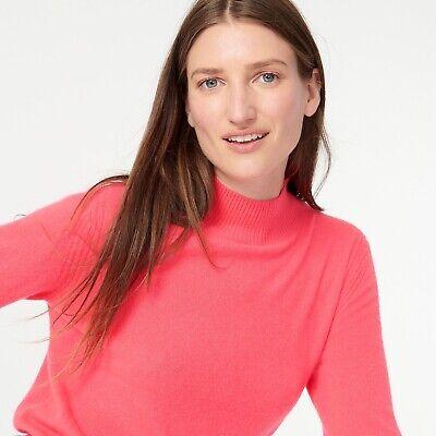 NWT J.CREW RETAIL 100/% CASHMERE mockneck sweater  S M L XL Burgundy