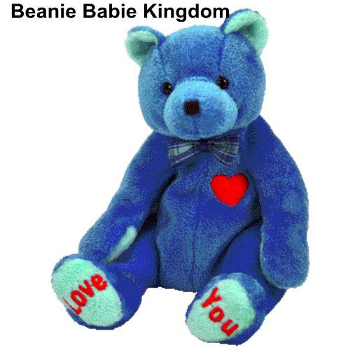 TY BEANIE BABIE * DAD-E * THE BLUE FATHERS  DAY TEDDY BEAR TY STORE EXCL