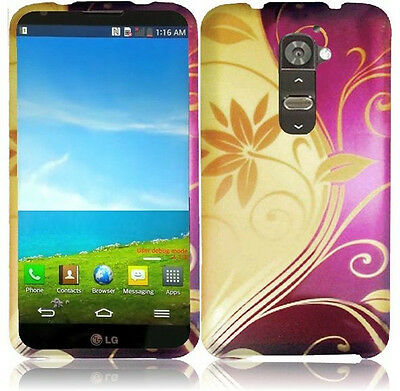 For LG G2 4G LTE Rubber Rubberized HARD Snap On Phone Case Cover  Accessory