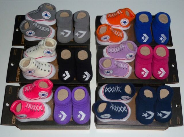New CONVERSE Infant Baby Newborn Booties BOY & GIRL, Size 0-6 Months, Assorted