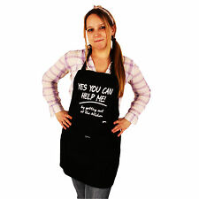 Grimm Yes You Can Help Me! Getting Out Kitchen Black Adjustable Apron Pocket NWT