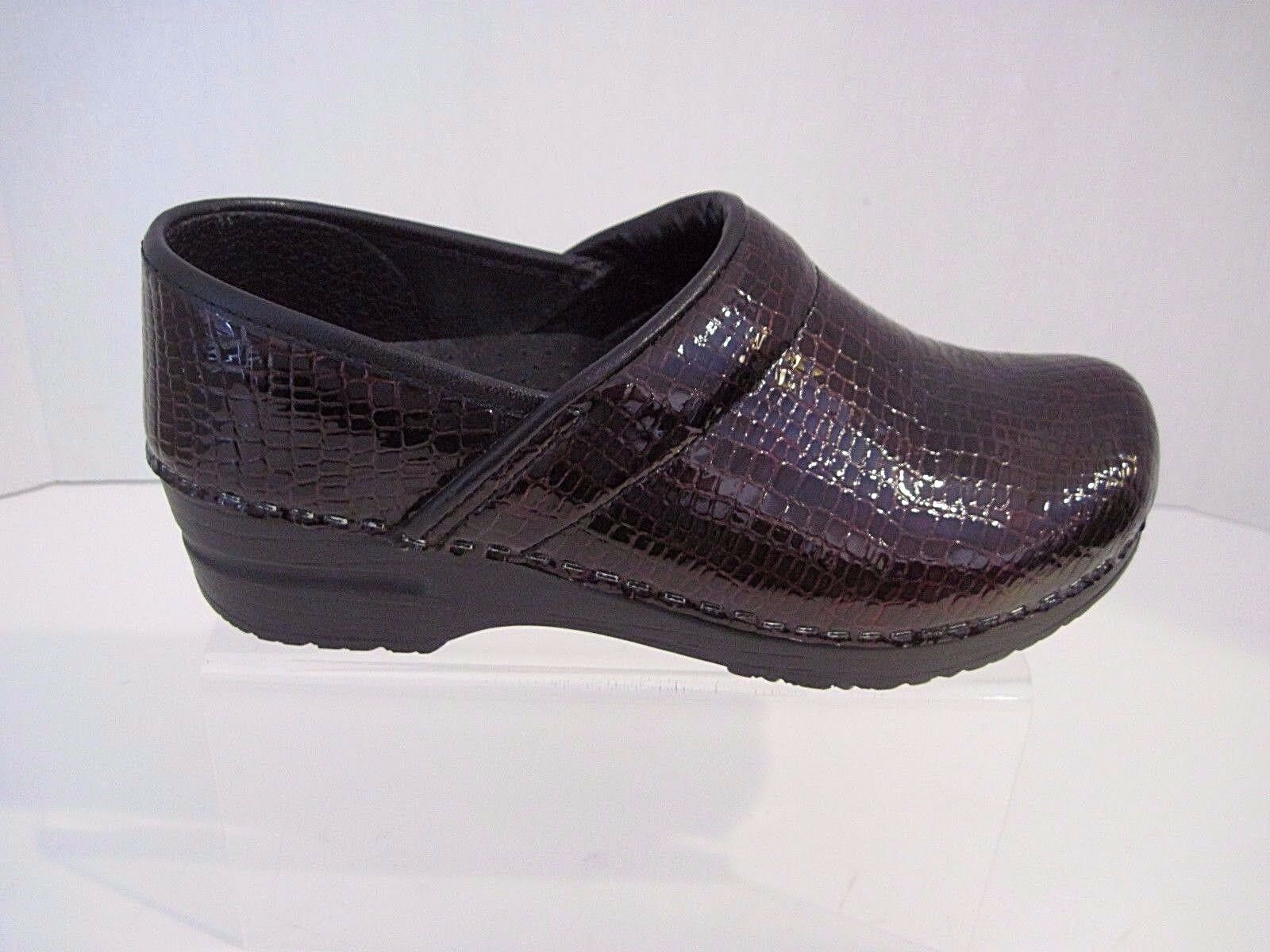 Sanita Danish Clogs Professional Croco Embossed Patent Leather Bordeaux Size Size Size 37 e7b5cb