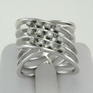GIANNI CARITA  18 kt White Gold Band Ring - Diamonds Ct 0.30 G VVS ... 67bddd0ba4