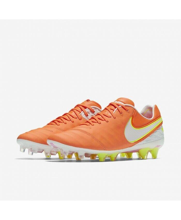 Mujeres Nike Tiempo Legend VI 6 FG-UK 7.5 - Naranja Amarillo blancoo (819256-817)