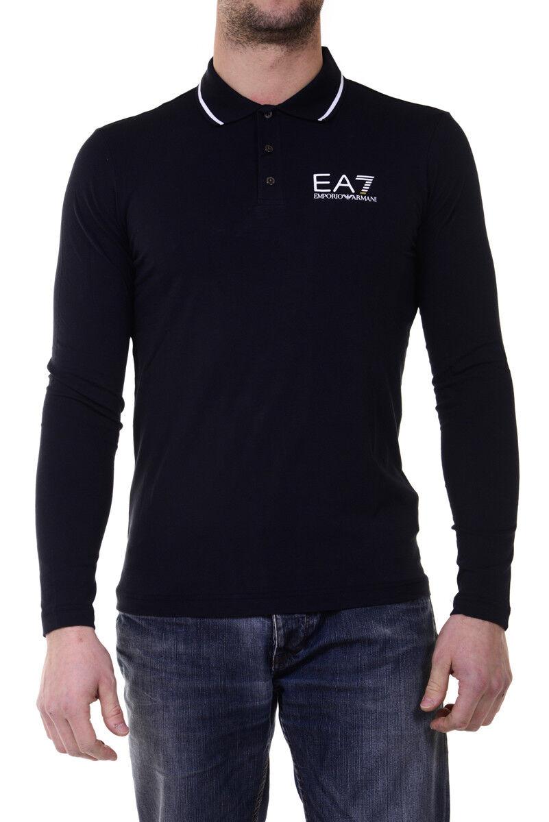 Polo Emporio Armani EA7 Shirt Cotone  Herren Blu 6XPF54PJ03Z 1578