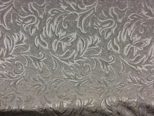 Antique Silver matelasse Jaquard Fabric By the yard drapery and upholstery