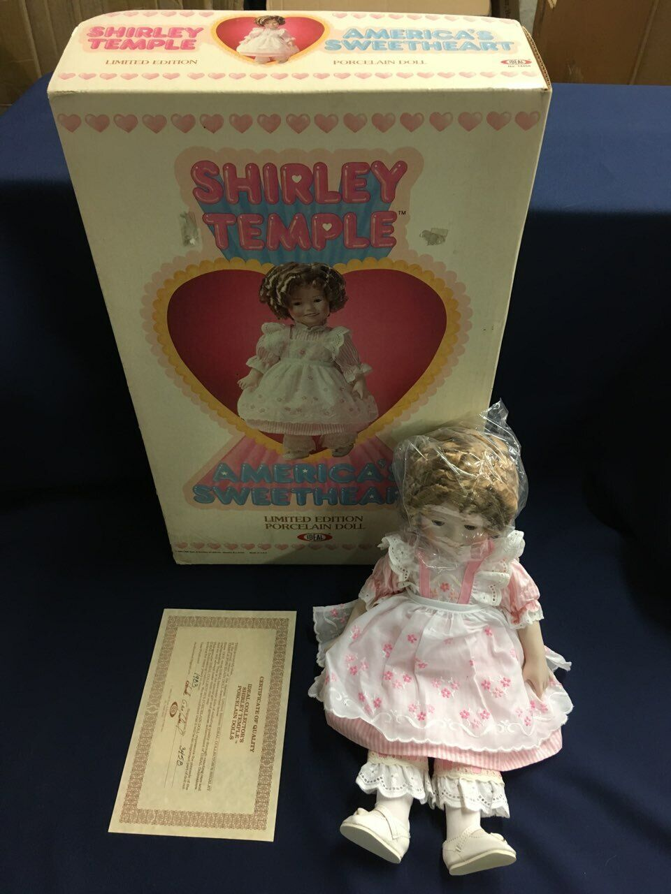 Shirley Temple America's Sweetheart Ideal Porcelain Doll CBS w Box FREE SHIP