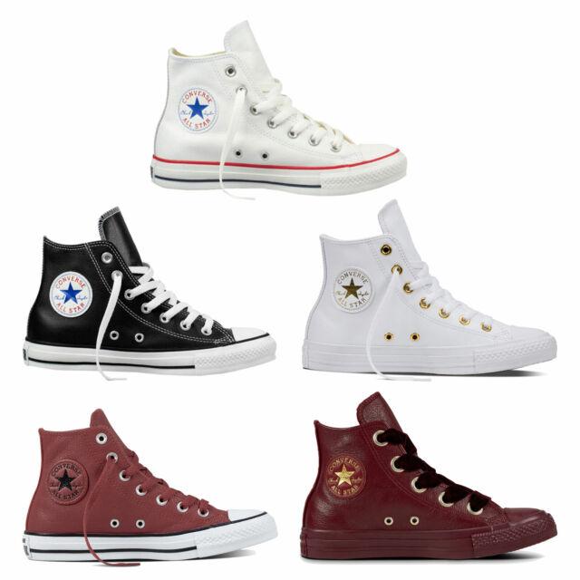 super popular e00f9 18b9c Converse Chuck Taylor all Star Hi Women's Sneakers Leder Trainers Chucks  Shoes