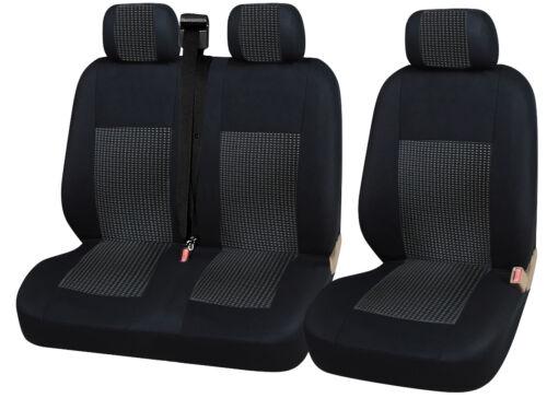 2+1 avant Lux Sitzbezüge Housses de Protection Noir Pour Ford Renault Toyota
