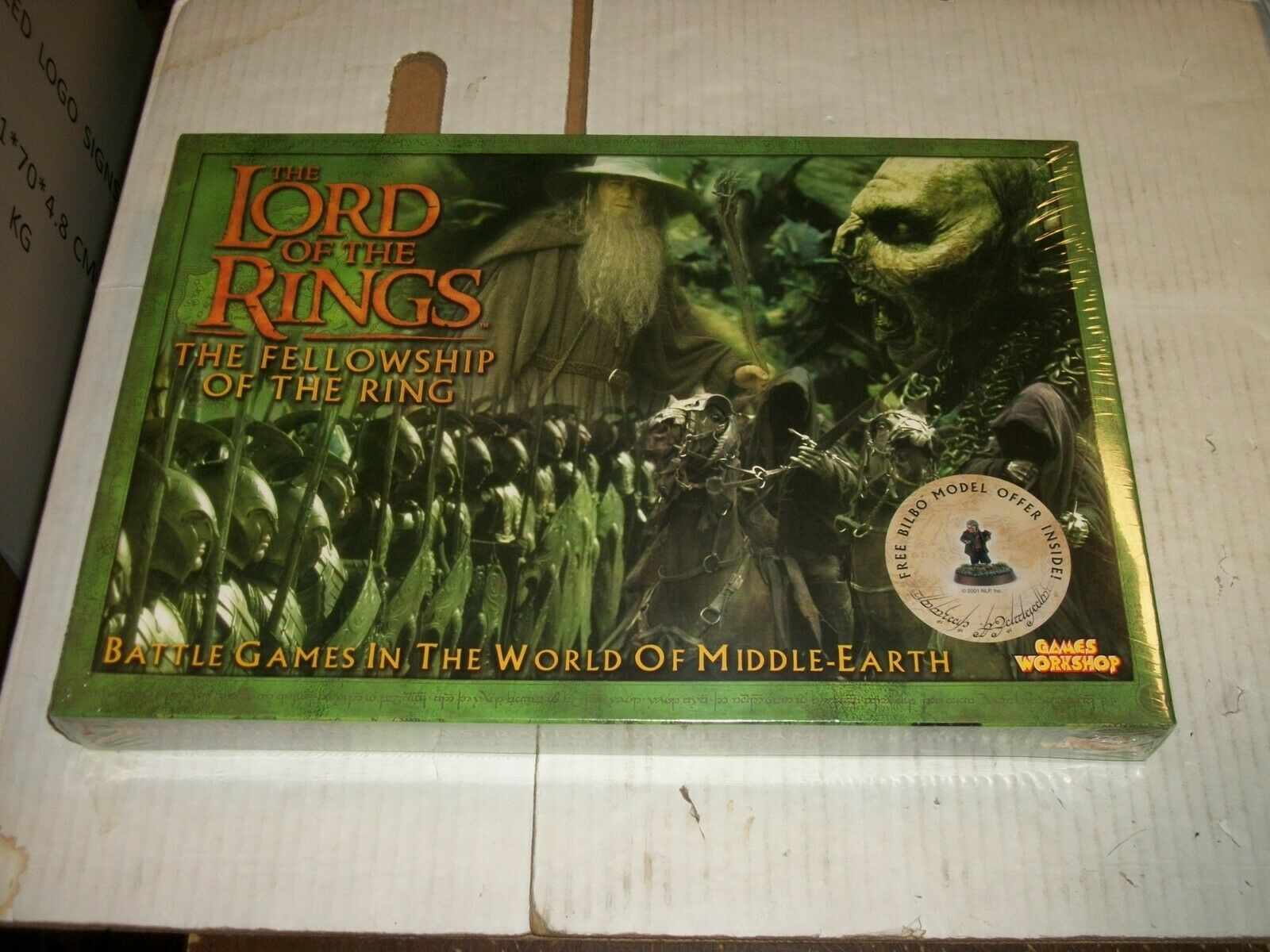 Lord of the Rings Fellowship battle GAMES IN THE WORLD OF MIDDLE EARTH Game NEW