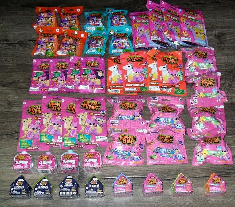 ANIMAL JAM BULK LOT OF 44 BLIND BLIND BAGS CARDS TAGS ECLIPSE GAME CODES & MORE