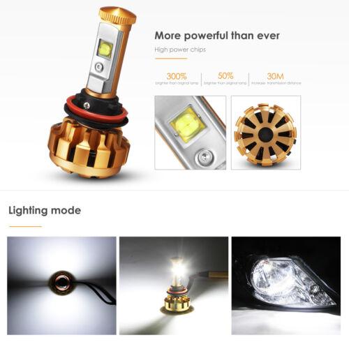 AUXBEAM H11 H9 H8 LED Headlights Bulb Kit Low Beam 60W 6000LM 6000K bulbs 2018