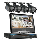 Sannce 4CH DVR Outdoor IR Home Security Camera System