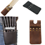6 Arrows Holder Cow Leather Back Pocket Arrow Quiver Bag Pouch for Recurve Bow