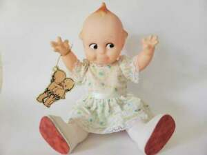 Jesco-12-Inch-1987-Kewpie-Doll-with-Tag-All-Original-Kitsch-Vintage-Cupie