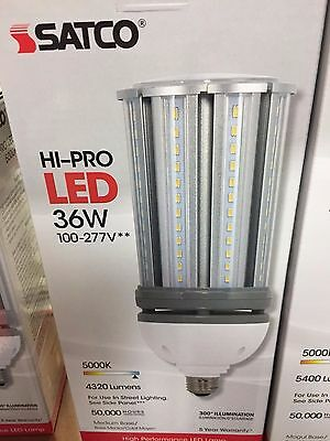 Satco S29390-18W//LED//HID//5000K//100-277V S9390 HID Replacement LED Light Bulb