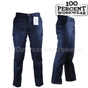 Ladies-Womens-UK-Pro-Trade-Work-Trousers-Cargo-Pockets-Combat-Pants-Black-Navy