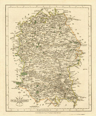 Europe Maps Original Outline Colour 1793 Great Varieties Fast Deliver Antique County Map Of Wiltshire By John Cary Maps, Atlases & Globes