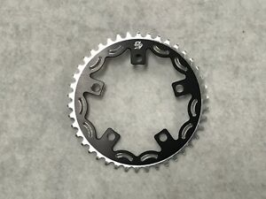 Snap BMX Products Series II 110mm 5 bolt Chainring - 43t Black