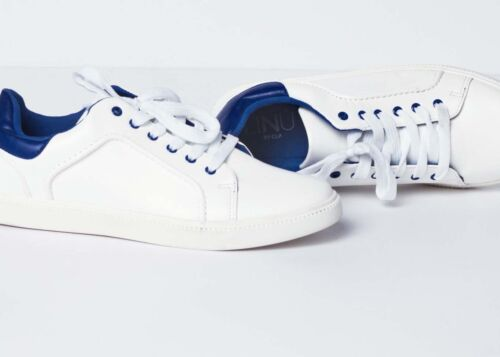 Tennis Shoes White Casual Low Blue Man Clp Sneakers Laces 1xqgawX5U
