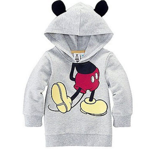 Kids Boy Girls Mickey Mouse Long Sleeve Hoodies Sweatshirt Jumper Pullover Tops