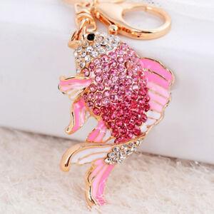 New-Crystal-Keychain-Fish-Keyring-Rhinestone-Key-Chain-Ring-Bag-Charm-Pendant