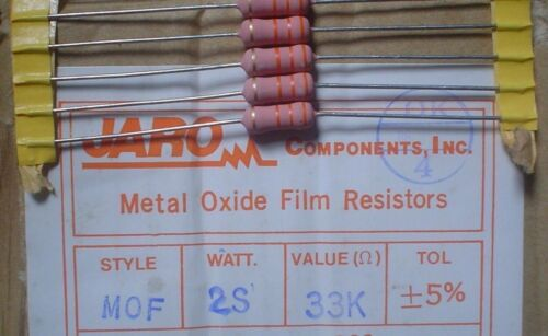 Jaro MOF 33K 2W 5/% Metal Oxide Film Resistors