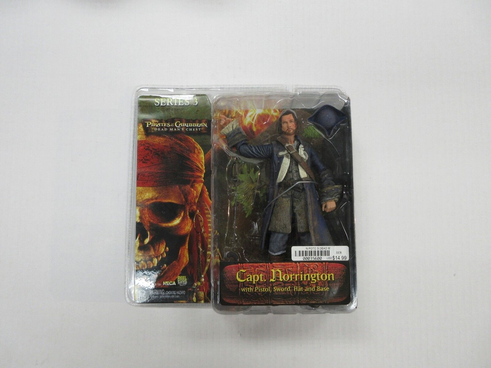 NECA PIRATES OF THE CARIBBEAN SERIES 3 CAPTAIN NORRINGTON FIGURE FACTORY SEALED