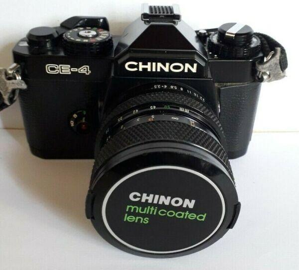 100% De Qualité Chinon Ce-4 + Chinon Zoom 1:3,5-4,5 F= 28~50mm + étui
