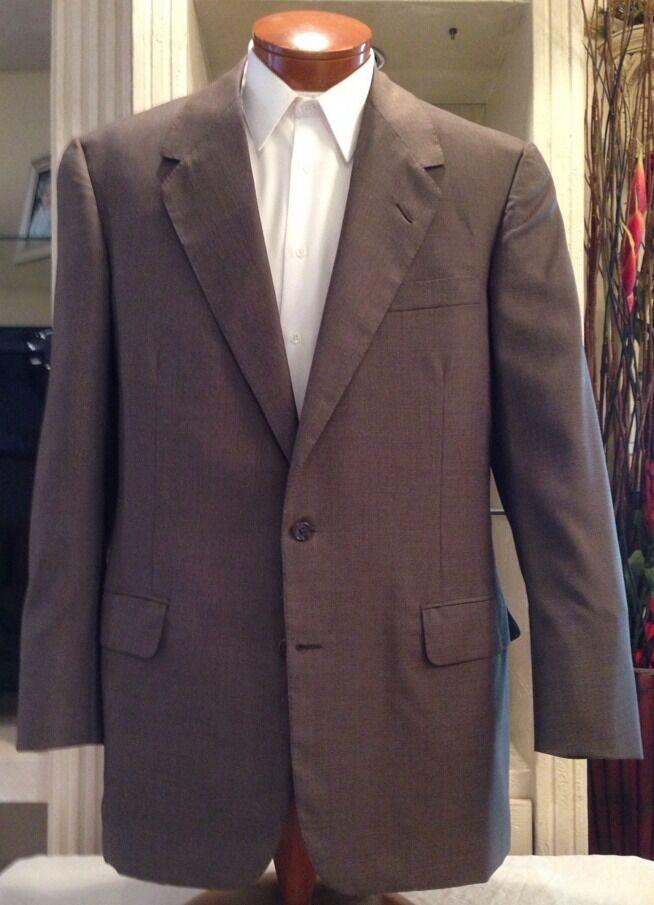 Oxxford   Herren Super 100's Wool Light Braun Suit Größe 42 T Excellent