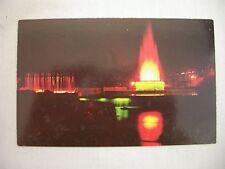 VINTAGE PHOTO POSTCARD FOUNTAIN DISPLAY IN SUNKEN GARDEN AT HERSHEY PARK, PA