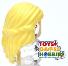 *NEW* LEGO 1x Minifig Wig Hair - Yellow - Princess Hair - Female wavy braid