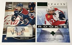 Lot-Vincent-Trocheck-Rookie-99-Artifacts-ITG-Autograph-Parallel-Hockey-Card-150