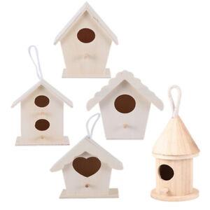 5pcs-Wood-Bird-Nests-Outdoor-Hanging-Stand-Home-Garden-DIY-Unfinished-Birdhouse