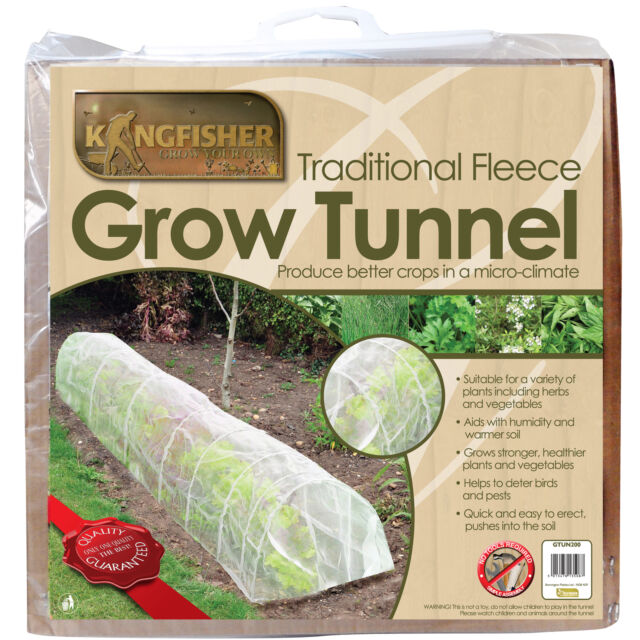3m Fleece Grow Tunnel For Stronger Healthier Plants Garden Row Cover Protects