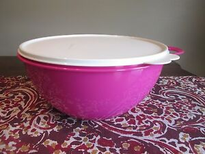 Tupperware Thatsa Bowl 19 Cup In Hot Pink Kitchen Dining Mixing Bowls