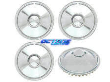 "16"" Metal Chrome Sombrero w/ Bullet Center Hub Cap Wheel Trim Covers Set of 4"
