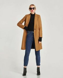 Størrelse Wool Masculine Coat Ny L Med Zara Camel Tag xvFS0dqvwR