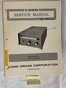 Conn Organ Service Manual Min-O-Matic 1 Automatic Rhythm Unit