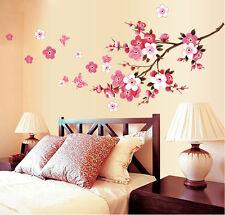 Wandtattoo Pfirsichblüte Blumen Wandaufkleber Wand sticker Wohnzimmer DIY Dekor