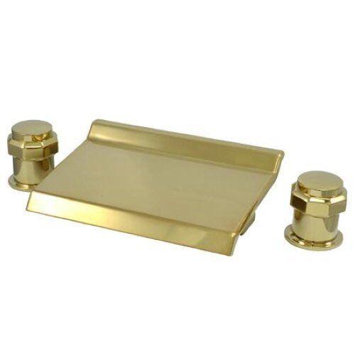 Kingston Brass Polished Brass Roman Tub Faucet KS2242AR