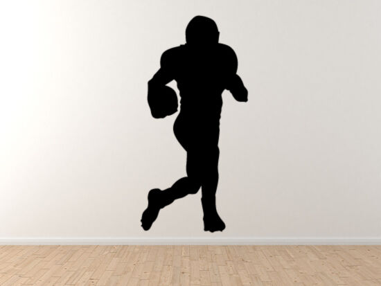 Sport Silhouette - Football Player Running Version 2 - Vinyl Wall Decal