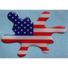 Bandiera USA 3D  a macchia cm.6,5x5 Americana - american 3D flag domed sticker