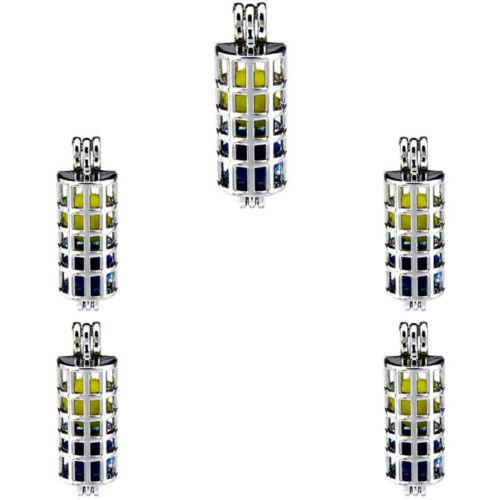 5X-K181 Sliver Color Square Pearl Cage Pendant Locket