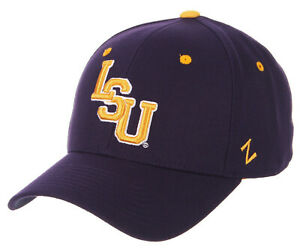 LSU-LOUISIANA-ST-STATE-TIGERS-PURPLE-NCAA-FITTED-SIZED-ZEPHYR-DH-CAP-HAT-NWT