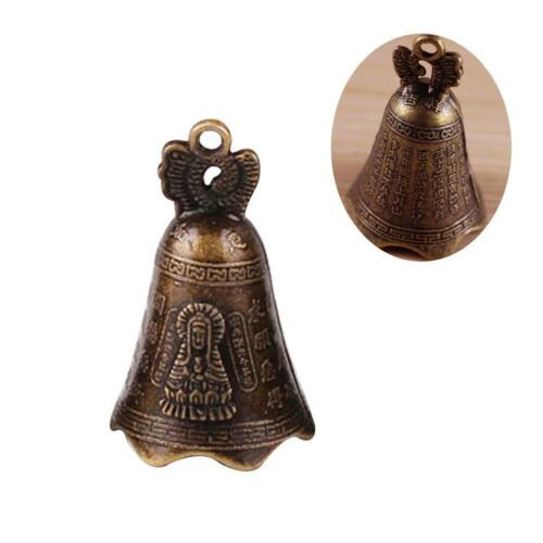 30mm China Mini messendes Kupfer Skulptur beten Buddha Feng Shui Glocke 48
