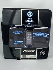 Case It 2 In 1 Dual Ring Binder 3 Capacity Strap Gray Amp Black With Zipper New